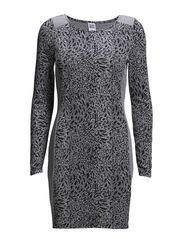 VMCLOVER L/S SHORT DRESS NFS - Black