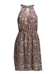 VMAMBI S/L HALTERNECK DRESS - NFS - White Asparagus