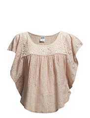 VMJULY S/S BATWING  LACE TOP - NF S - Rose Smoke