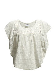 VMJULY S/S BATWING  LACE TOP - NF S - Snow White