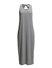 WP - VMBELIZE SL  7/8 DRESS 6 - Medium Grey Melange