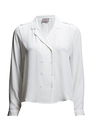 WP- VMMARNI DOUBLE BREASTED LS SHIRT 9 V - Snow White