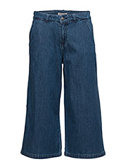 VMBRANDY NW WIDE CALF JEANS - MEDIUM BLUE DENIM