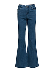 VMTESSA HW FLARE JEANS WP 1 - MEDIUM BLUE DENIM