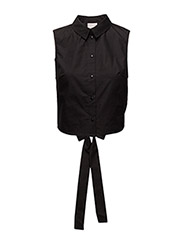 VMKAYLA CUT-OUT S/L SHIRT LA - BLACK