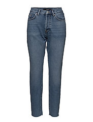 VMMARTINE  HR STRAIGTH JEANS MBD MMVM - MEDIUM BLUE DENIM