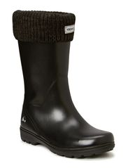 Warm rubber rain boot MIRA JR. WARM - Black