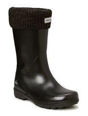 Warm rubber rain boot MIRA JR. WARM - Black