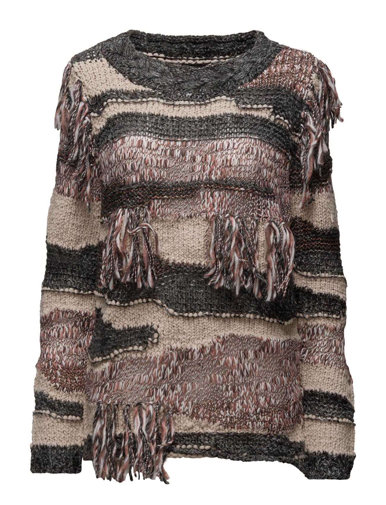 Viester L/S Knit Top Vila Sweatshirts til Damer i Mørk grå