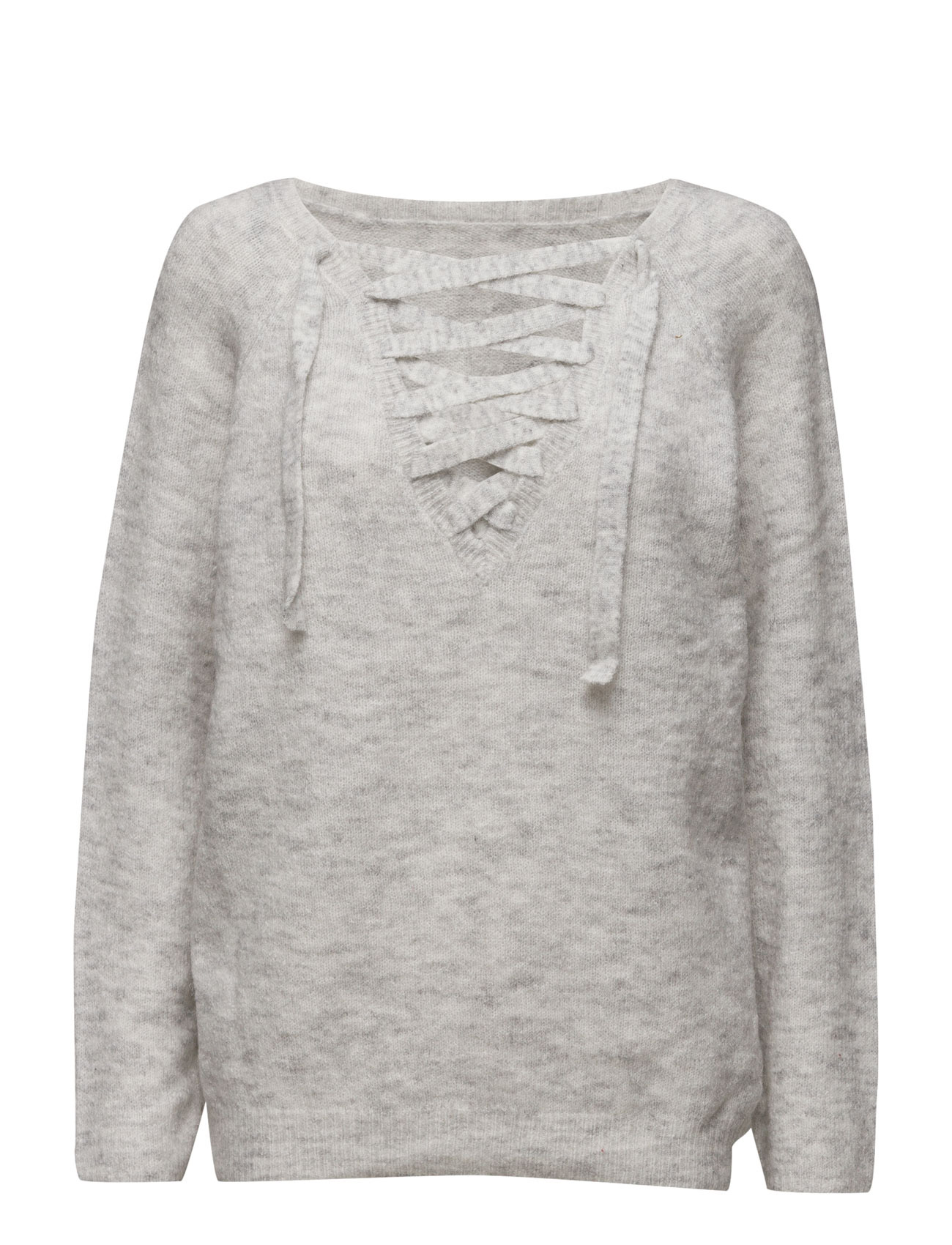 Vicant String Knit Top/1 Vila Sweatshirts til Kvinder i Sandshell