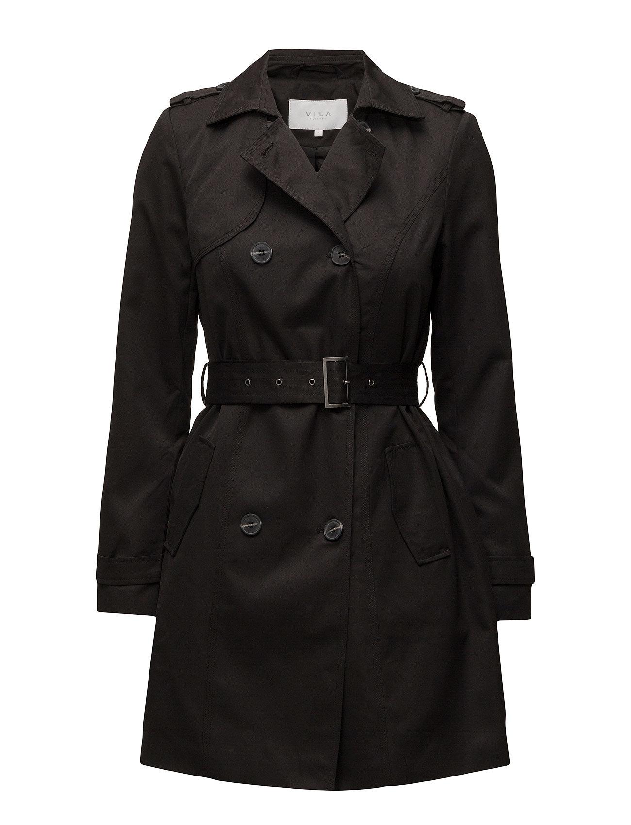 Vithree Long Trenchcoat-Noos Vila Coats