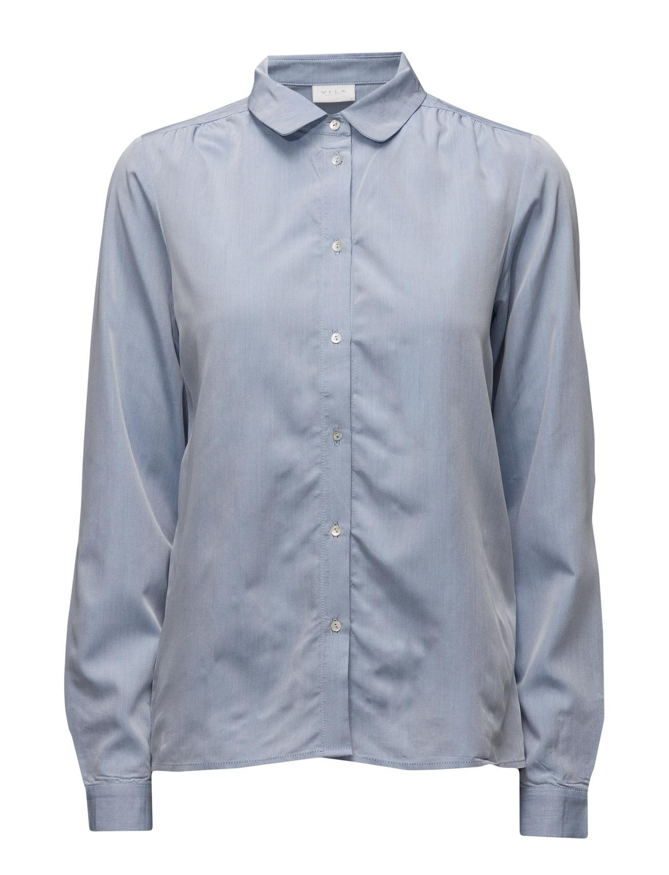 Vilidas Shirt Vila Langærmede til Kvinder i Lyseblå Denim