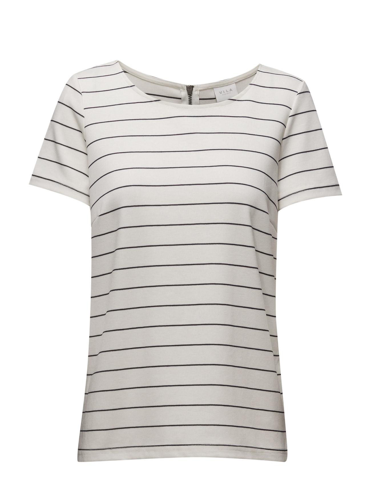 Vitinny S/S Top-Noos Vila T-shirts & toppe til Kvinder i Sne hvid