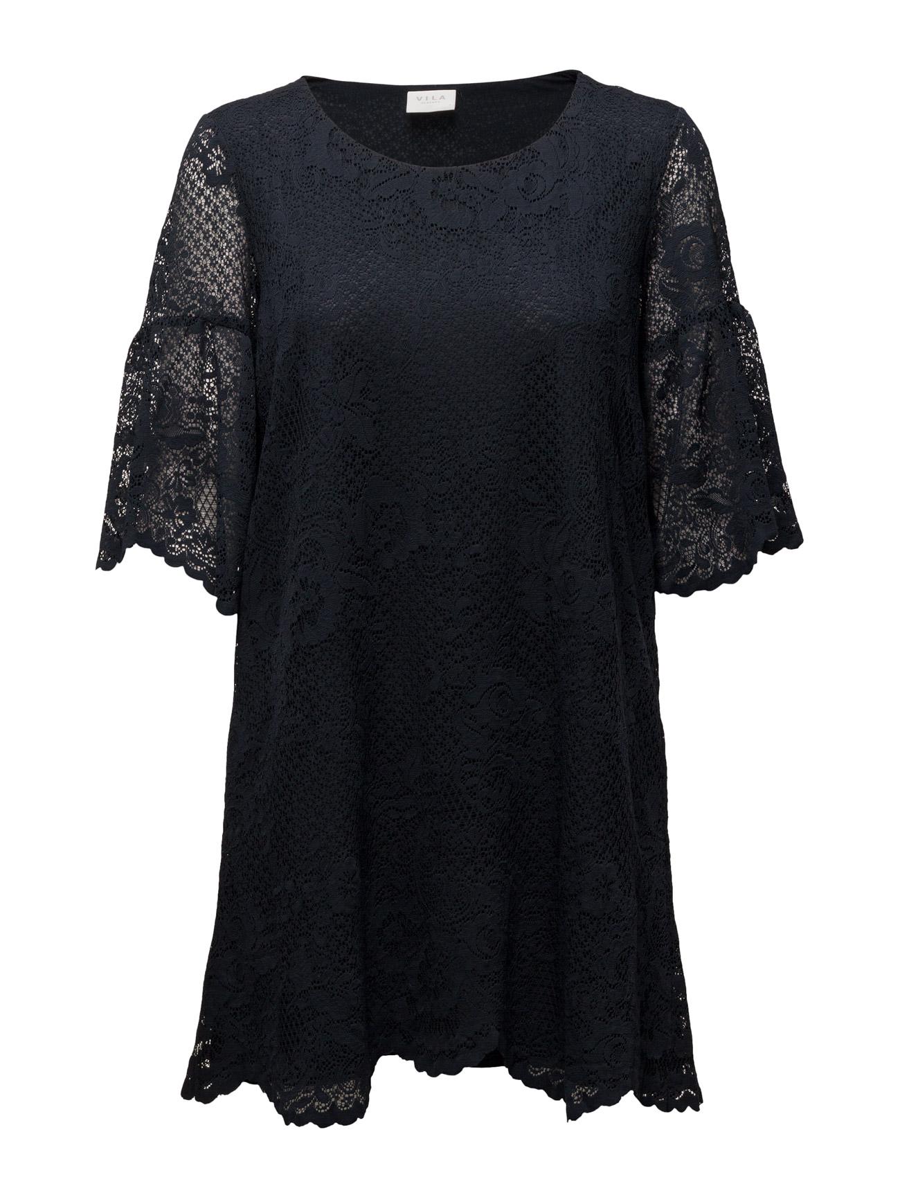 6b8857c5abcf Viloras 3 4 Sleeve Lace Dress Vila Korte kjoler til Kvinder i Total Eclipse