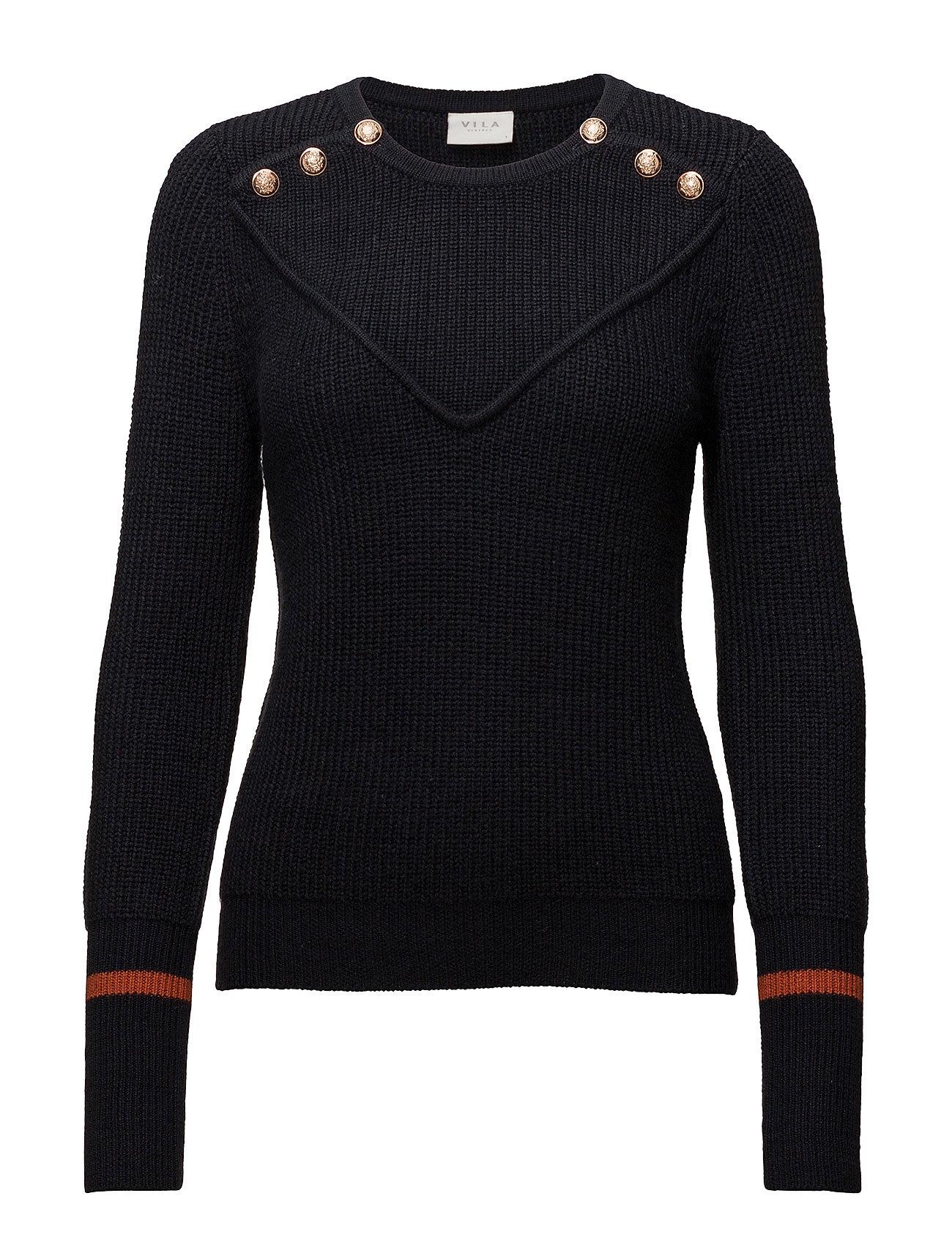 Vimaniana l/s button knit top fra vila fra boozt.com dk