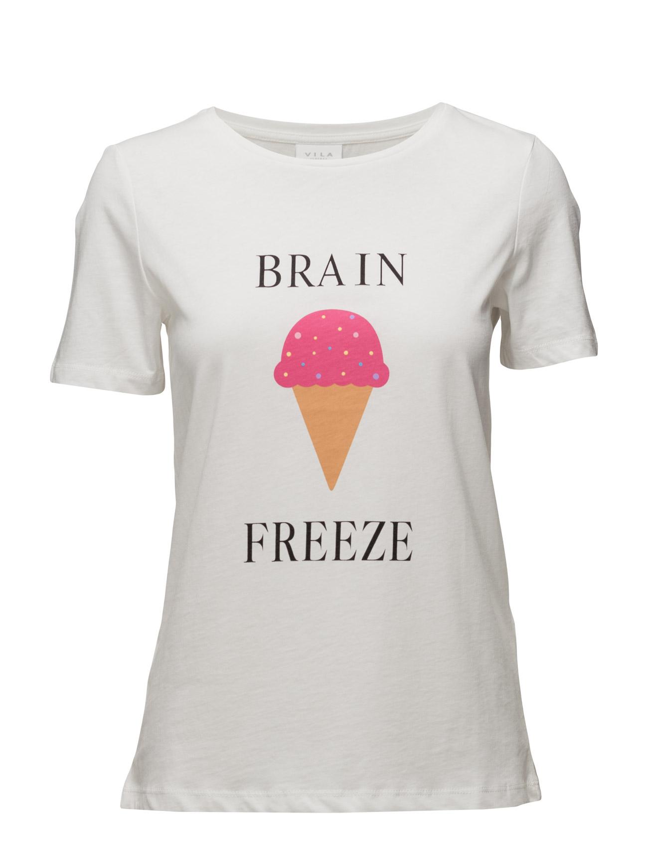 Vilovina New T-Shirt Vila T-shirts & toppe til Kvinder i Sne hvid
