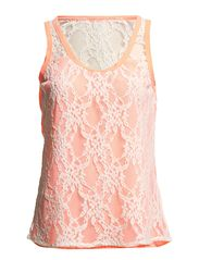 Vila SCOOPS LACE TANK TOP