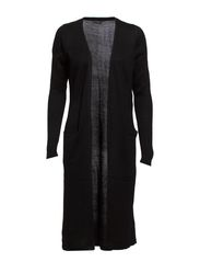 RIVA LONG KNIT CARDIGAN - Black