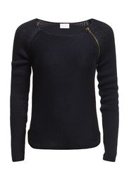 Vila DIEGO ZIP KNIT TOP