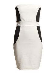 KIARA CORSAGE DRESS - WHITE