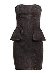 BLADES DENIM DRESS - Black