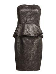 STITCHY DRESS - SILVER COLOUR