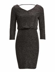 LUO SLEEVE DRESS - Silver Colour