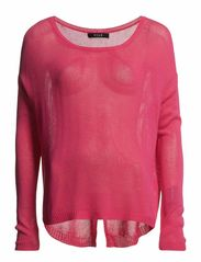MIDDLE O-NECK KNIT TOP - Raspberry Sorbet