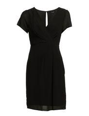 NANDA S/S DRESS - Black