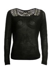 NESE KNIT TOP/MS - Black