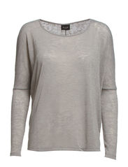 LAYLA L/S TOP - Light Grey Melange