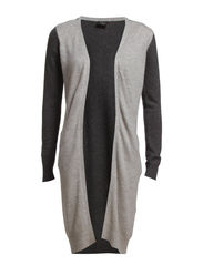 LUCRAN KNIT CARDIGAN - Light Grey Melange