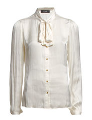 LOTTIE BOW SHIRT - Pristine