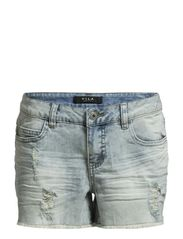 IRA DENIM SHORTS - Light Blue Denim