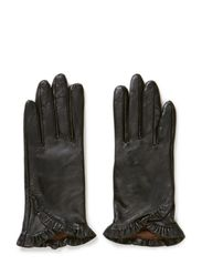 GAPING LEATHER GL0VES - Black