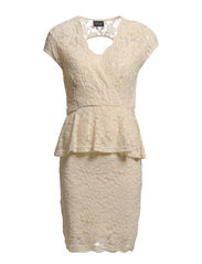 HYMN LACE DRESS - Sandshell