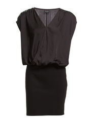 BANNER DRESS - Black