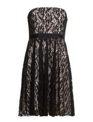 SALLY CORSAGE DRESS - Black