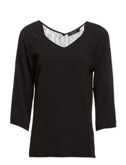 OMANIS 3/4 SLEEVE TOP - Black