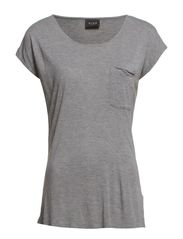 SISELY TOP - Light Grey Melange