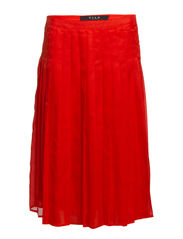 VIPLISSE SKIRT - Mandarin Red