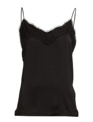 VIMONA STRAP TOP - Black