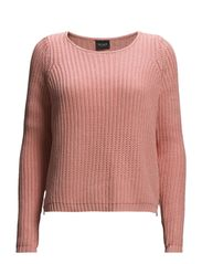 VIDESERT L/S KNIT TOP - Apricot Blush