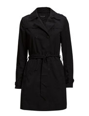 VISHINA LONG TRENCHCOAT - Black