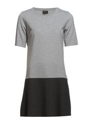 VITOUR DROPWAIST DRESS - Light Grey Melange