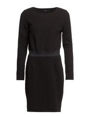 VISADY L/S DRESS - Black