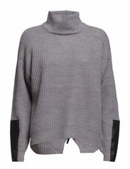 VIKALUAN ZIPPER KNIT - Light Grey Melange