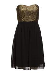VISEASONA SHORT CORSAGE DRESS - Black