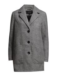 VIPEACHA COAT - Light Grey Melange