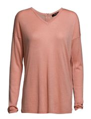 VILIS ZIP KNIT TOP - Apricot Blush